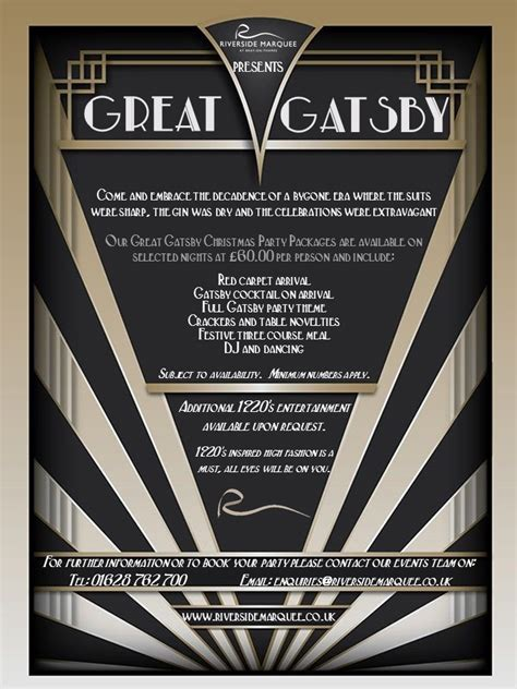 great gatsby christmas party package riverside marquee