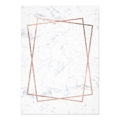 modern faux rose gold script marble sweet  invitation