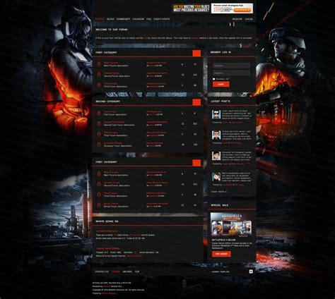 best themes in games gaming forum theme for vbulletin by markoprom on deviantart