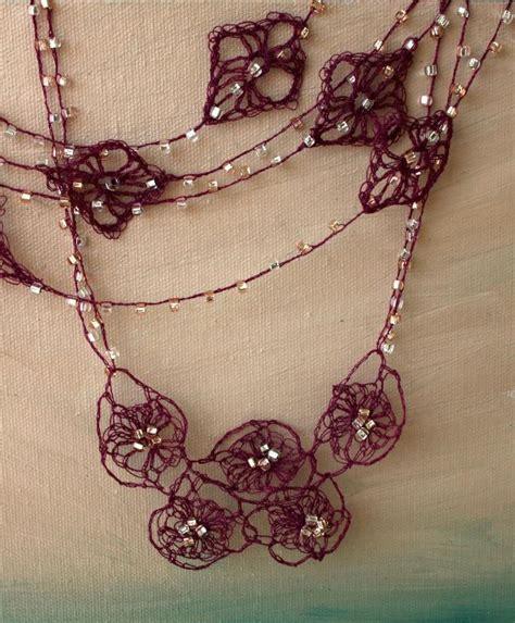 crochet pattern jewelry 10 stash busting crochet necklace patterns craftsy