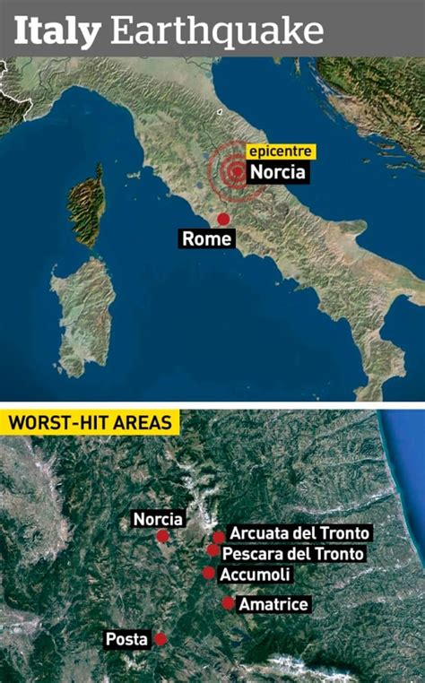 italy earthquake map like dante s inferno 159 killed 3 towns demolished in