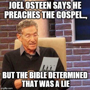 Joel Osteen Memes - maury lie detector meme