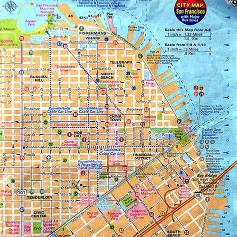 san francisco map of downtown je vous ai mis le plan du centre ville de san francisco