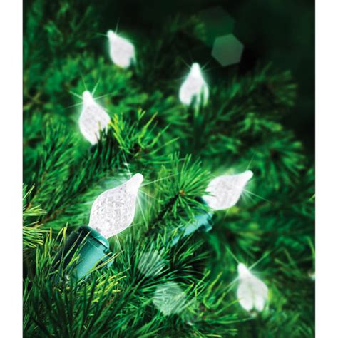 new holiday time led teardrop light set 60 count cool