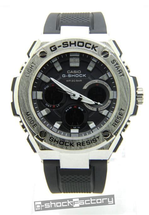 g shock gst 110 steel silver black by www g