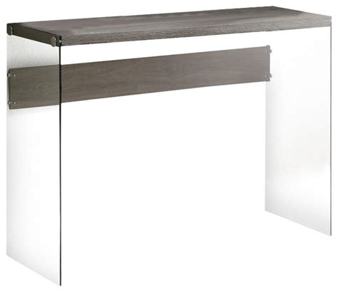 monarch console table monarch specialties 3055 sofa table in taupe