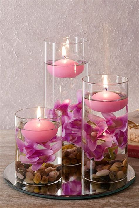 Floating Candles set of three lilac floating candles 163 22 set of 3