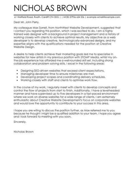 cover letter cover letter samples livecareer