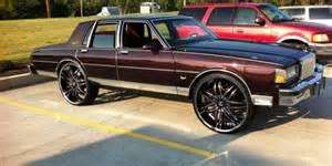 box chevy brougham on 26 s big rims custom wheels