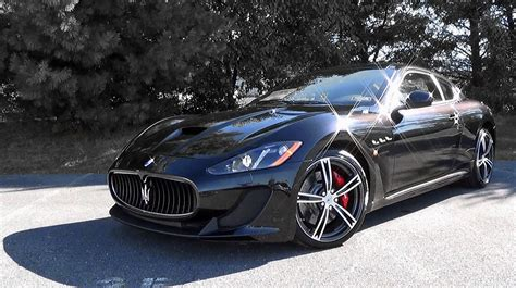 2016 maserati granturismo black 2016 maserati granturismo mc review youtube