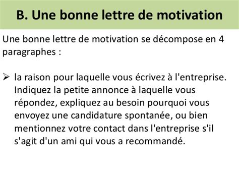 Lettre De Motivation Candidature Spontanée Grande Entreprise Recrutement