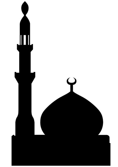 basic card template for silhouette cutting sticking mosque pictures with free printable