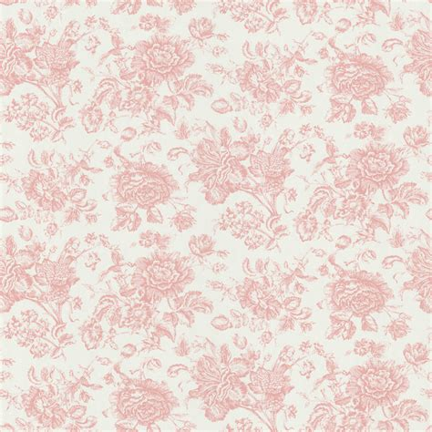 floral wallpaper for walls brewster pink floral toile wallpaper contemporary