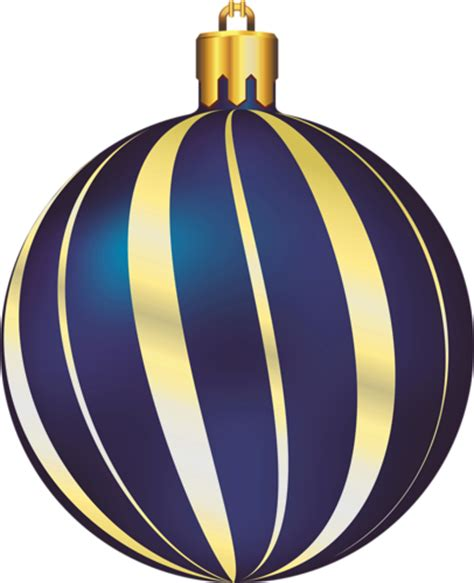 large transparent christmas gold and blue ornament
