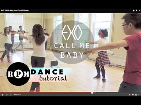 tutorial dance call me baby exo quot call me baby quot dance tutorial chorus youtube
