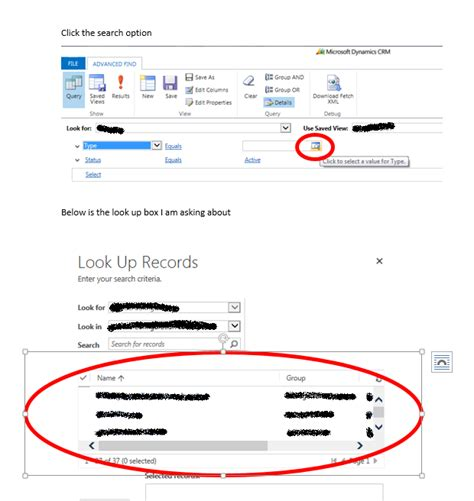 Look Up Records Crm 2016 Advanced Find Look Up Records Dialog Box