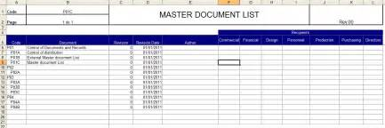 Document Control Master List Template Alfa Img Showing Gt Document Master List