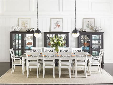Coastal Dining Room Sets by Coastal Living Retreat Saltbox White Rectangular Leg