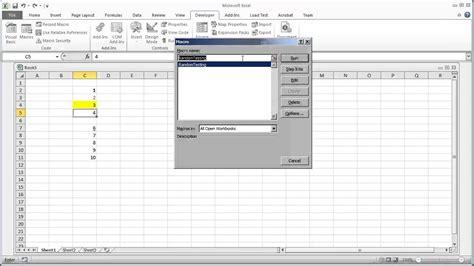 tutorial excel 2010 visual basic vba programming for excel 2010 v1 06 editing a macro