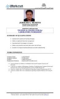 Sample Resume Format With Ojt by Resume Format Tati