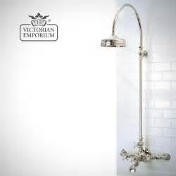 Bath Tap Showers Wall Mounted Bath Shower Mixer With Riser And 8 Quot Shower