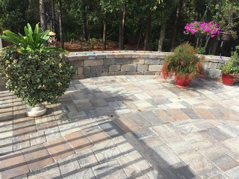 Curved Patio Pavers by Curved Patio With Retaining Walls Elite Pavers Of Ta Bay