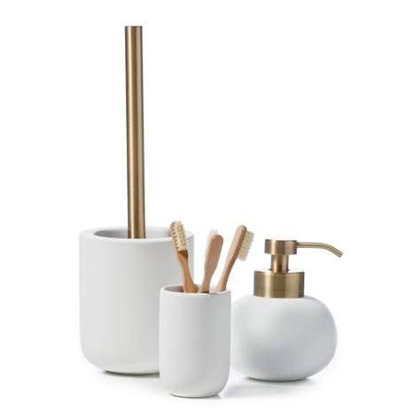 Home Republic Dane Bathroom Accessories White And Gold And White Bathroom Accessories