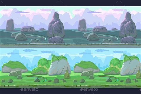 parallax stone backgrounds  craftpixnet graphicriver
