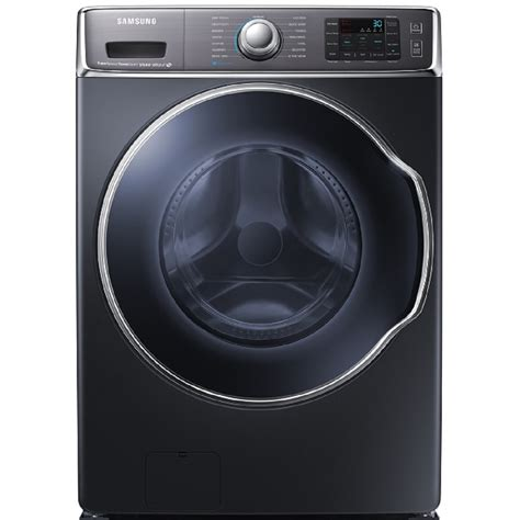 samsung washer shop samsung 5 6 cu ft high efficiency front load washer with steam cycle onyx energy at
