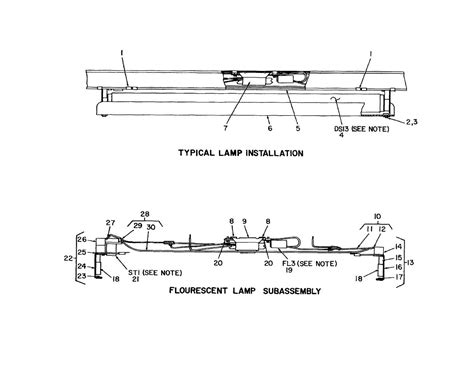 Parts Of A Fluorescent Light Fixture Figure 17 Utilities Installation Electrical Typical Fluorescent L Assemblies