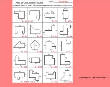 area and perimeter of composite figures worksheet area of composite figures worksheet by kevin wilda tpt