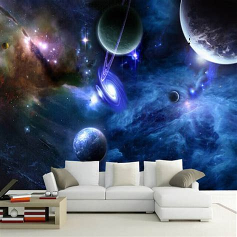 Galaxy Bedroom Wallpaper by 50 Space Themed Bedroom Ideas For And Adults