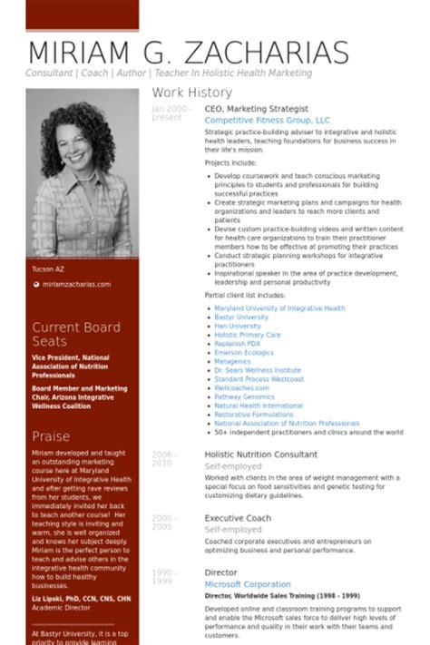 Cv Fitness Consulting Ceo Resume Sles Visualcv Resume Sles Database