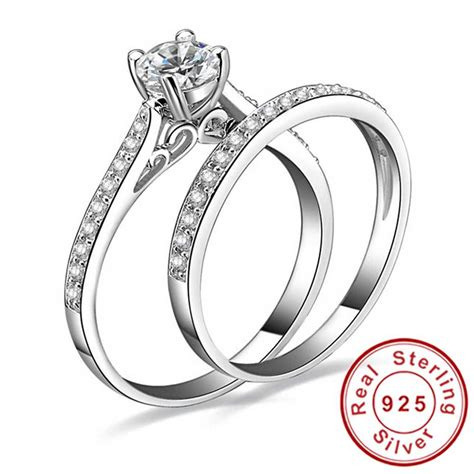 aliexpress buy 1ct cz engagement wedding ring set