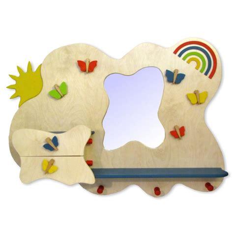 kindergarderobe mit ablage garderobe aus holz kinder spiegel regal schublade ablage