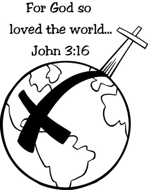 Coloring Page For God So Loved The World | for god so loved the world coloring page coloring home