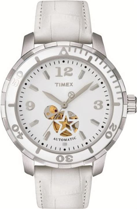 timex s t2m510 sport luxury white leather