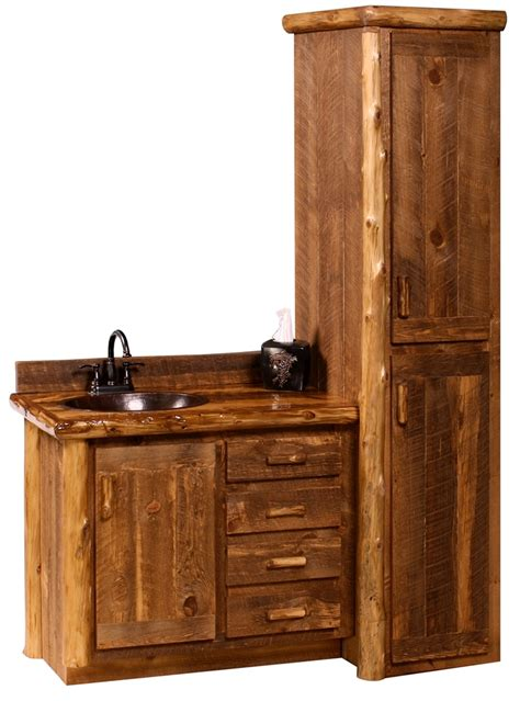bathroom vanity and linen cabinet sets sawmill c vanity and linen cabinet barnwood vanity