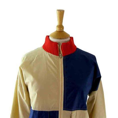 70s retro zip up jacket blue 17 vintage fashion