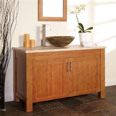 modern bathroom vanity bamboo 48 quot bashe bamboo vessel sink vanity modern bathroom