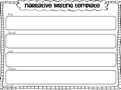 template for narrative writing writing template for kindergarten search results