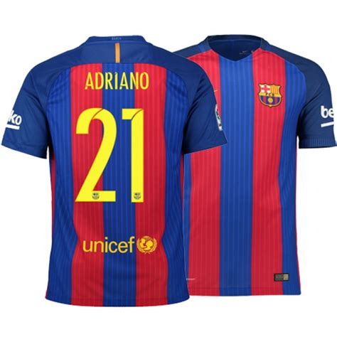 Sale Jersey Home 2016 Go Nike Fit barcelona 2016 17 adriano home jersey authentic blue stripes barcelona 21 shirt for