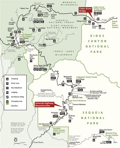 sequoia national park map sequoia maps npmaps just free maps period
