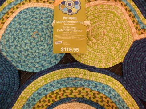 Pier 1 Imports 4 Ft Round Indoor Outdoor Rug Ebay Pier One Indoor Outdoor Rugs