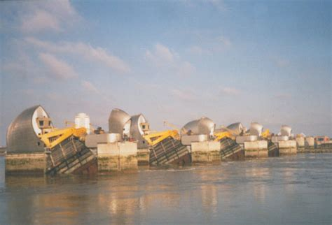 thames barrier raised barrier being raised 169 stephen craven cc by sa 2 0