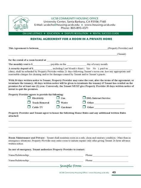 room rental agreement 3 free templates in pdf word