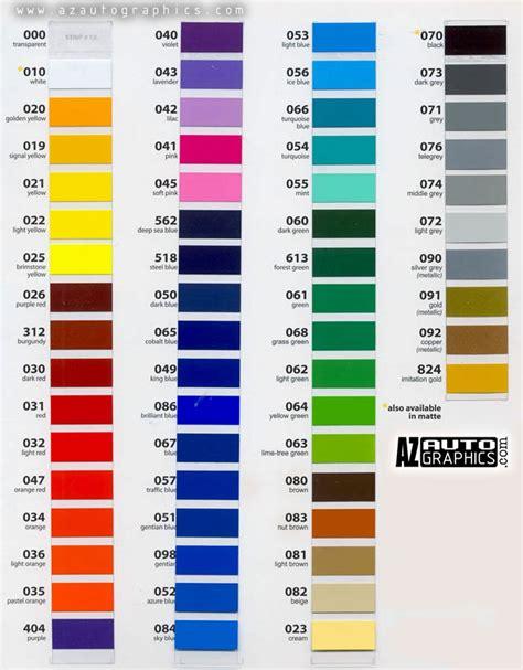 3m vinyl color chart intermediate vinyl