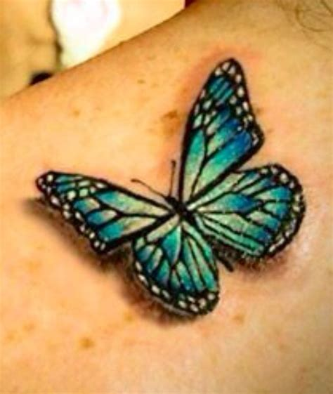 realistic butterfly tattoo butterfly cool colour ink