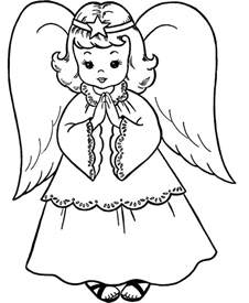christmas angels coloring pages az coloring pages