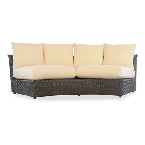 curved sectional sofa lloyd flanders flair curved sectional sofa